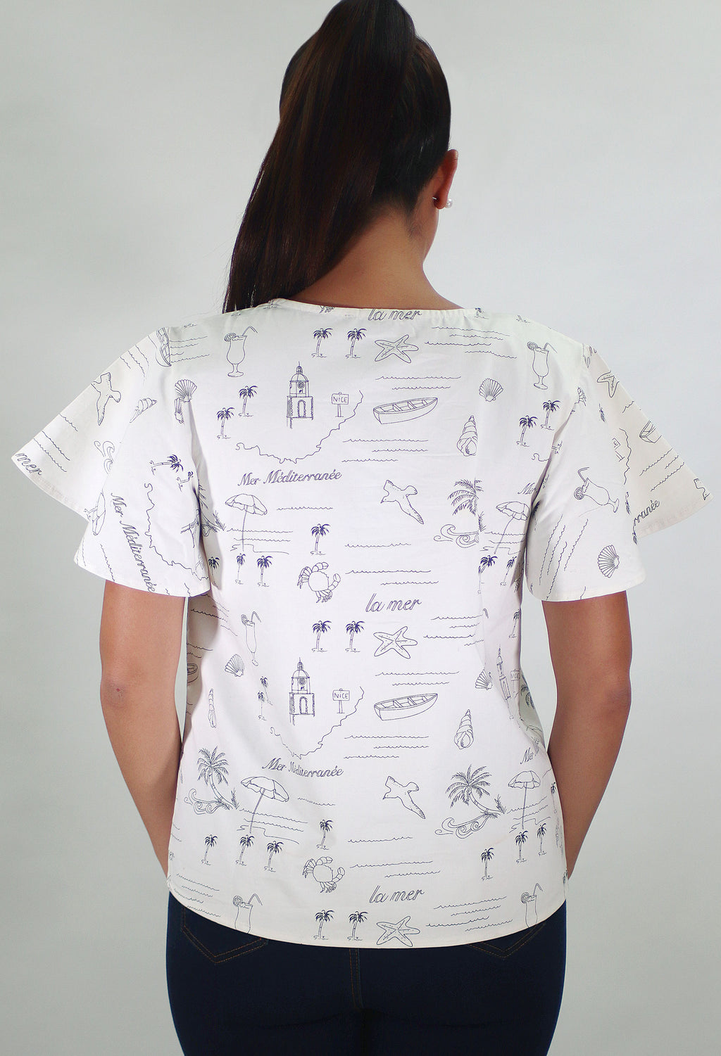 White Printed Shirt | IQ 127 (6061)