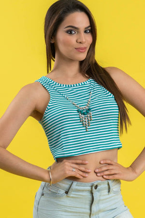 Crop & Dangle Top | 113
