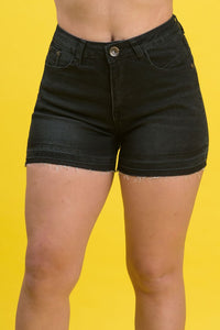 High Rise Destroyed Denim Shorts | 2642 S