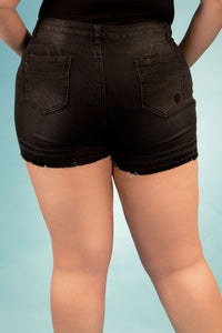 High Rise Destroyed Denim Shorts | 2642 XS