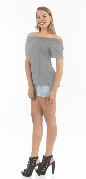 Alloy Off Shoulder Top | NR-311
