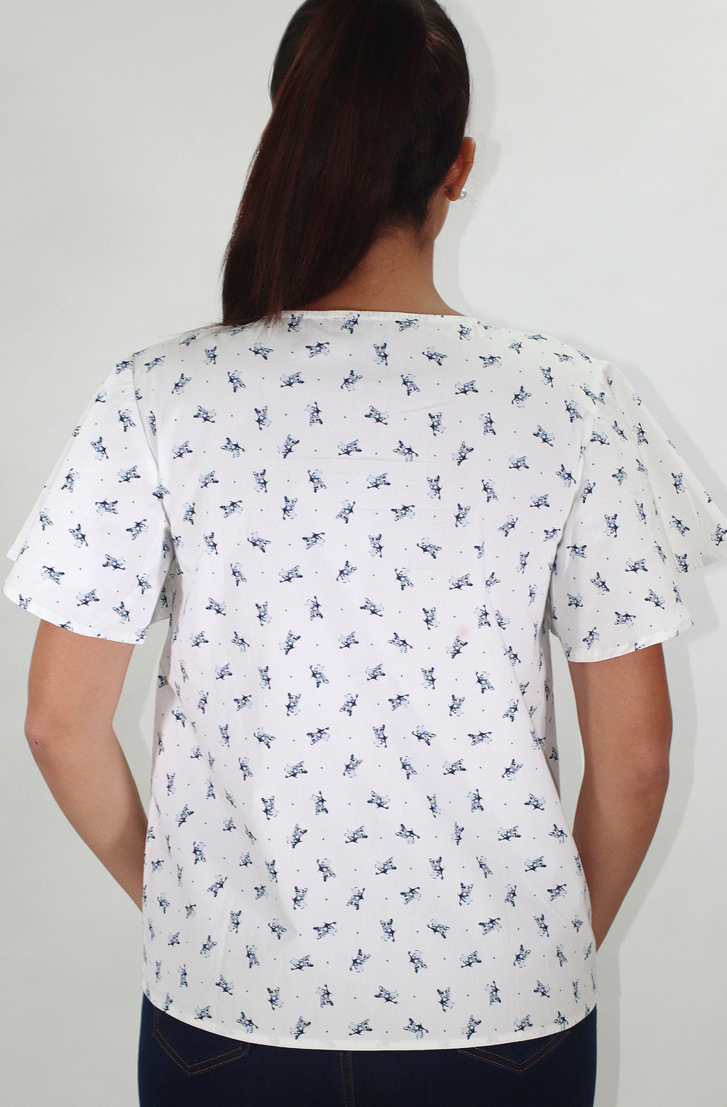 White Printed Shirt | IQ 127 (6058)