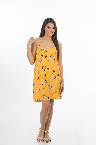 Beach Short Dress | 330 (Yellow-Print2)