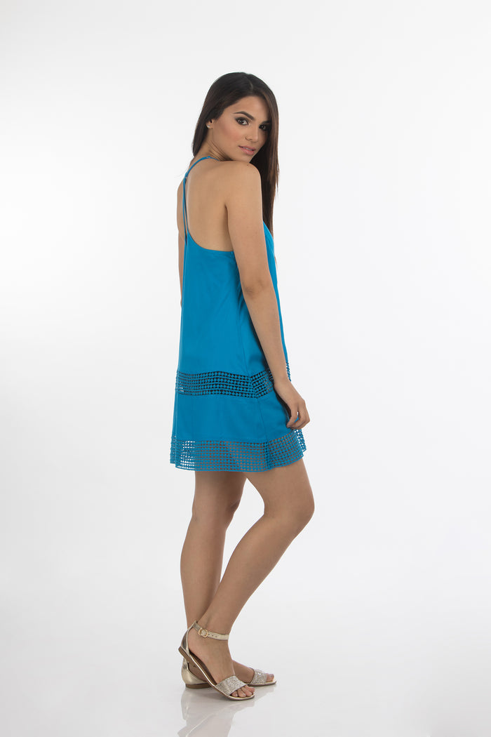 Hawaiian Short Dress | 333 (Blue)