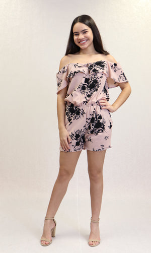 Abstract Floral Romper | 387