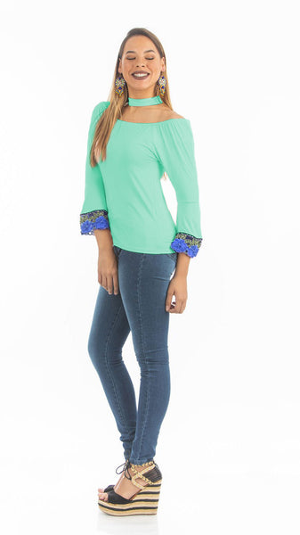 Ice Green Choker Top | NR-316