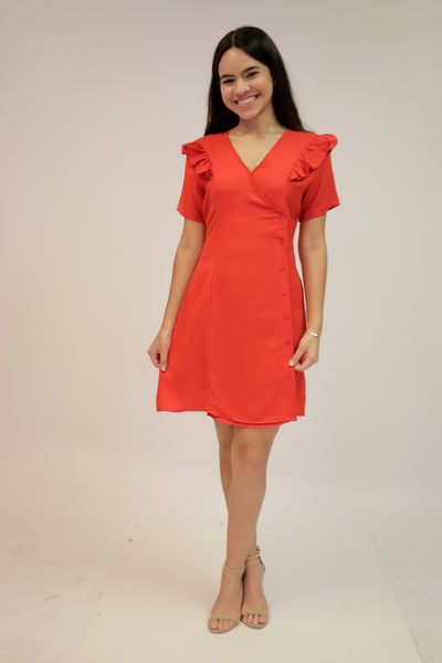 Red Ruffle Dress | 456