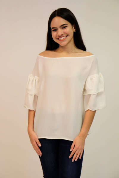 White off Shoulder Top | 461