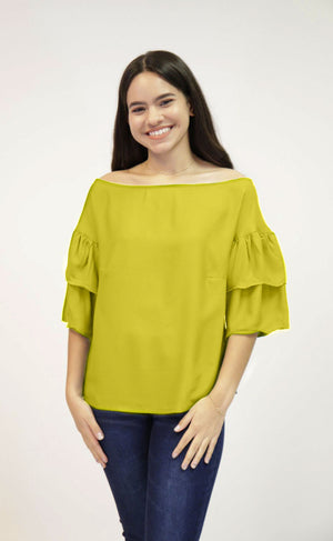 Yellow off Shoulder Top | 461
