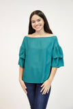 Teal off Shoulder Top | 461