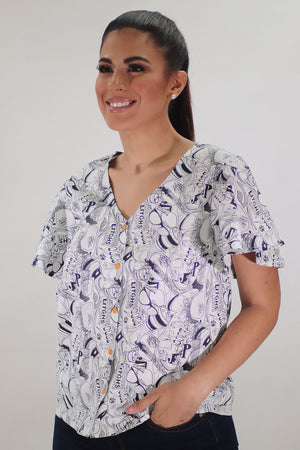 White Printed Shirt | IQ 127 (6060)