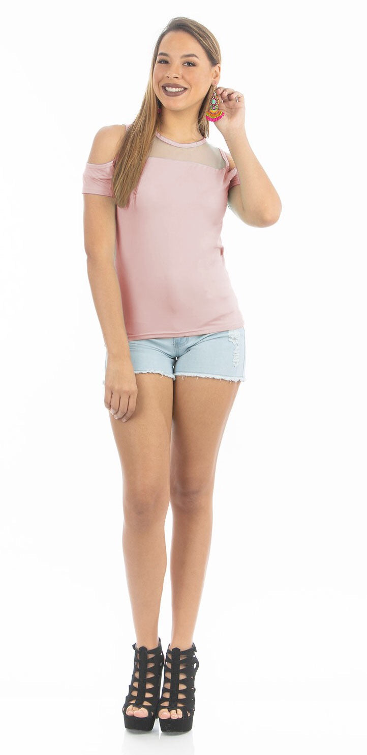 Blush Meshy Top | NR-310