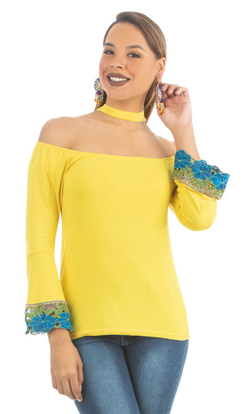 Empire Yellow Choker top | NR-316