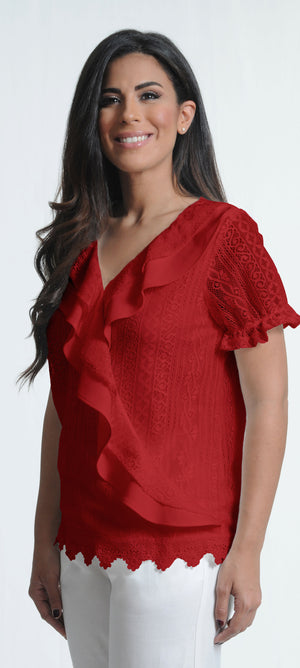 Red Lace Top | H-231
