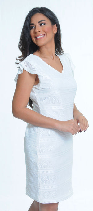 White Lace Dress | IQ-233