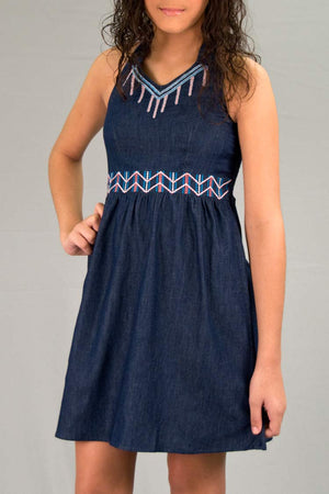 Girls Light Denim Dress | H-2601 G - Hectik  - 2