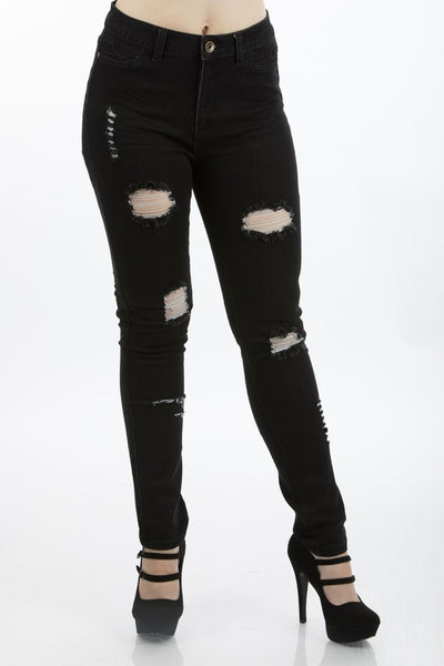High Waist Embroidered Jeans | 2618