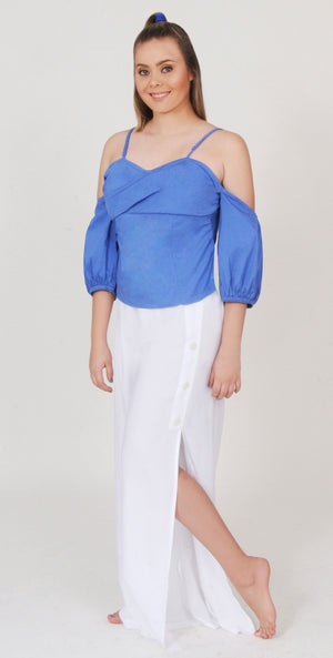 Blue Stylish Top | H-270