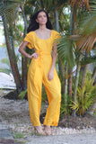 Yellow Jumpsuit | H-204
