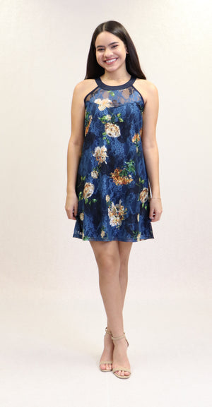 Carmensilla Dress | NR-678 (Navy)