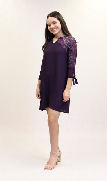 Giana Dress | NR-677 (Purple)