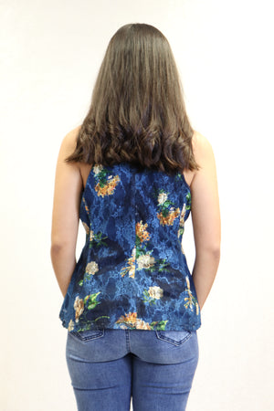 Aria Flowers Top | NR-672