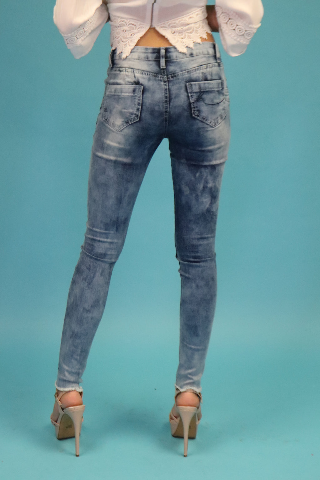 Mid Rise Jeans | H-2648