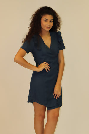 Blue Ruffle Dress | 456
