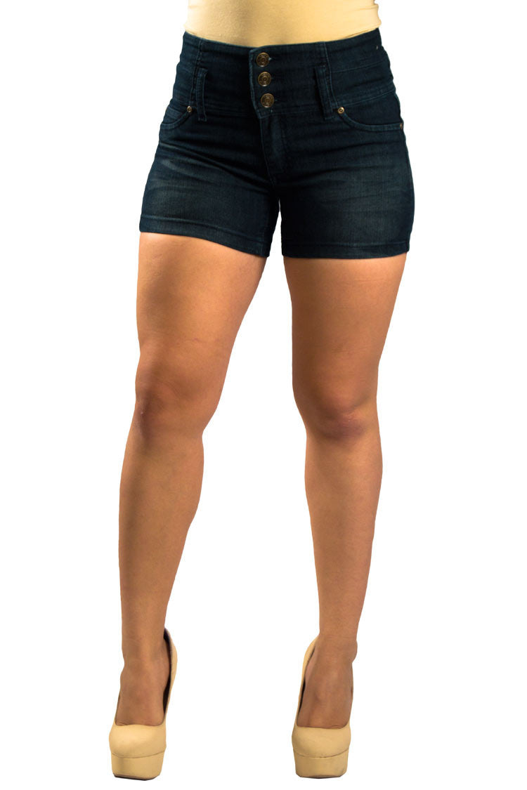 High Waist Denim Shorts | 2588s - Hectik  - 1