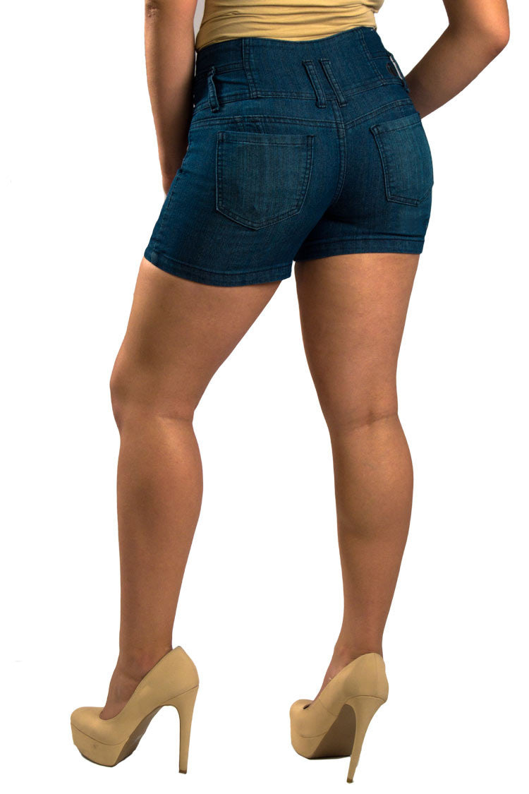 High Waist Denim Shorts | 2588s - Hectik  - 4