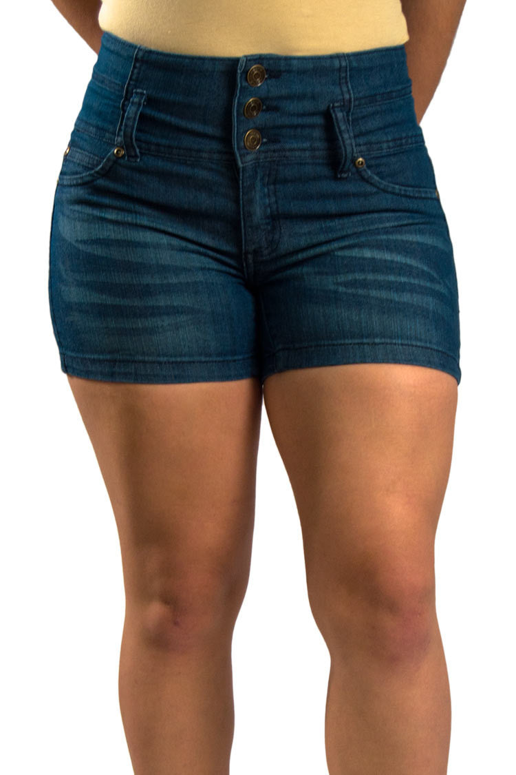 High Waist Denim Shorts | 2588s - Hectik  - 6