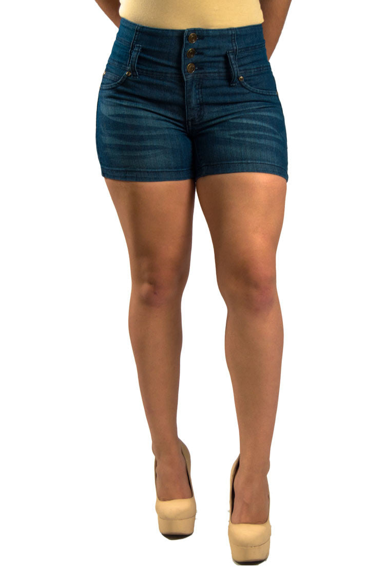 High Waist Denim Shorts | 2588s - Hectik  - 3