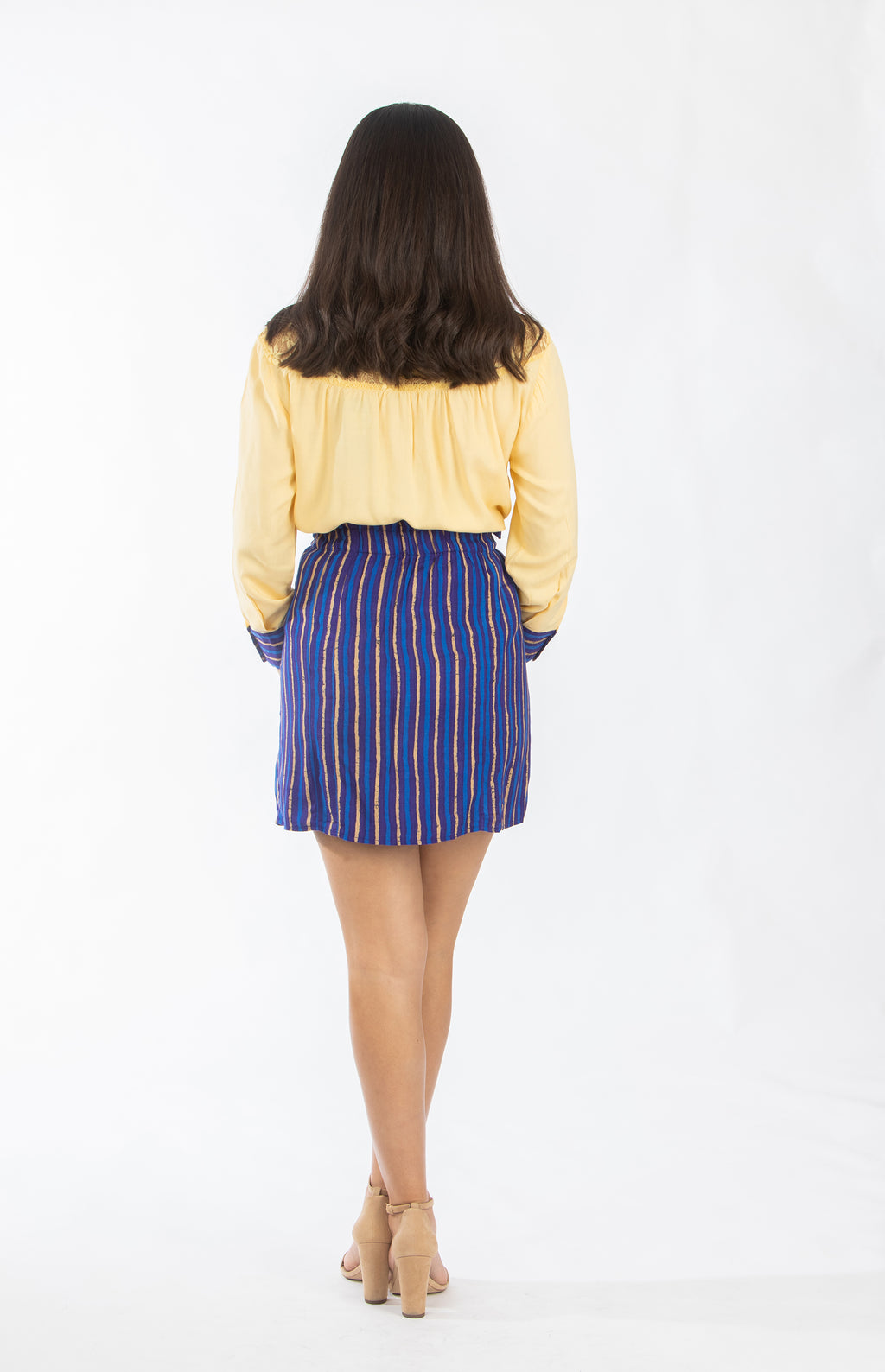 Blue Striped Skirt | NR-356