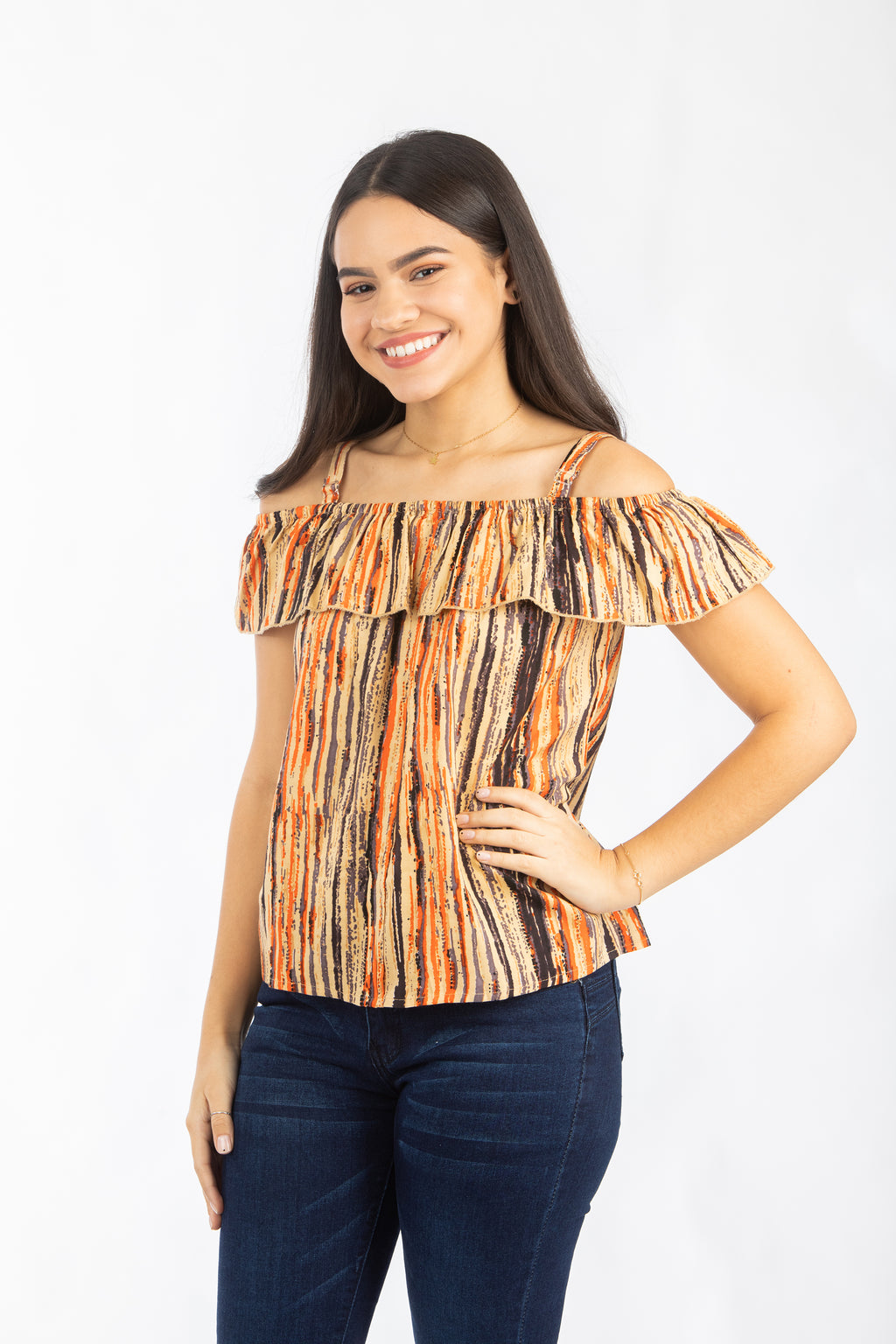 Brown Bohemian Top | 378
