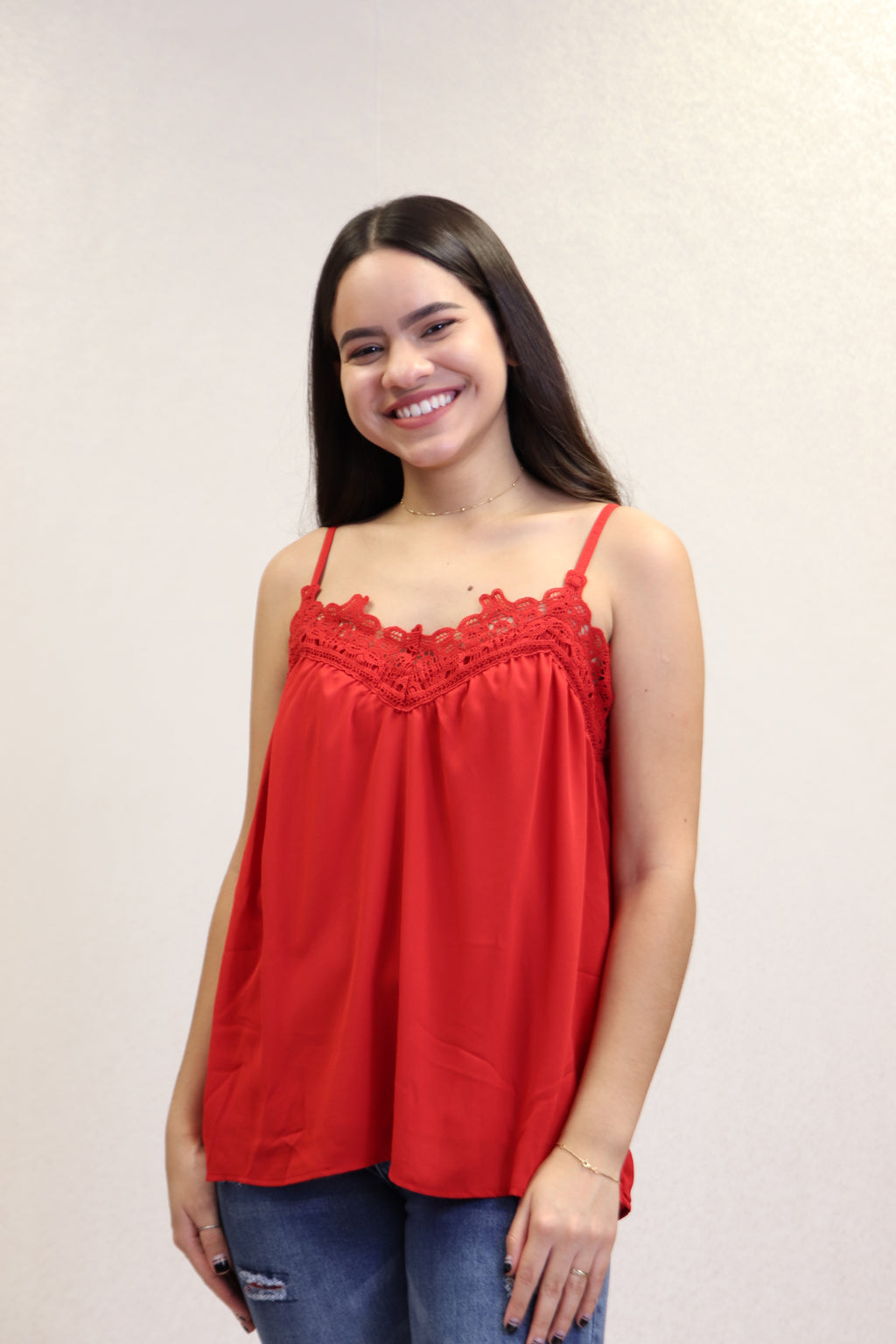 Red Lace Top | 670