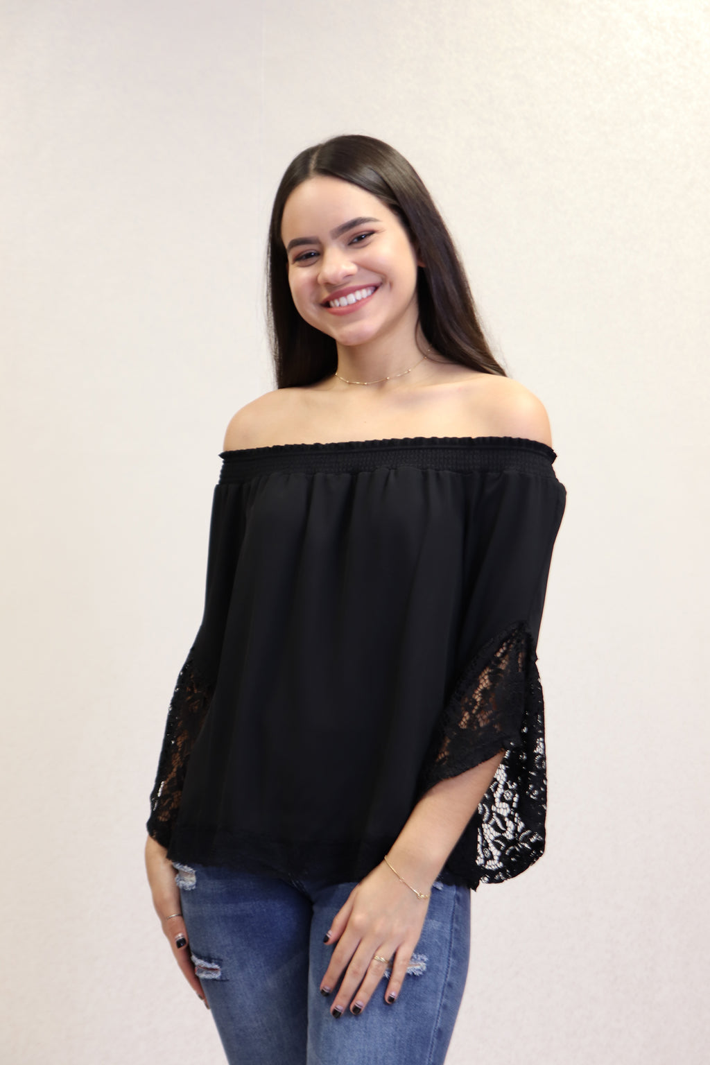 Black Off Shoulder Top | 674