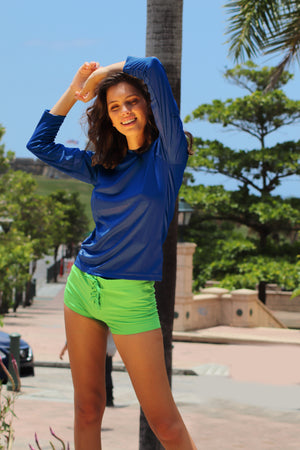 Rash Guard Royal - 7026LS