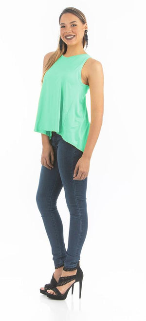 Ice Green Open Back Top | NR-309