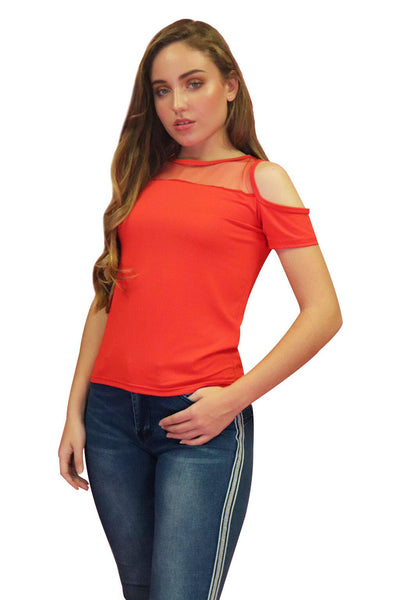 Red Meshy Top | NR-310