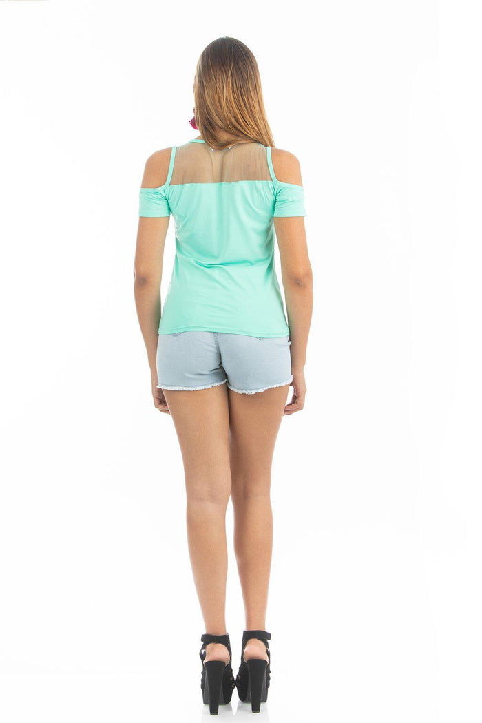 Ice Green Meshy Top | NR-310