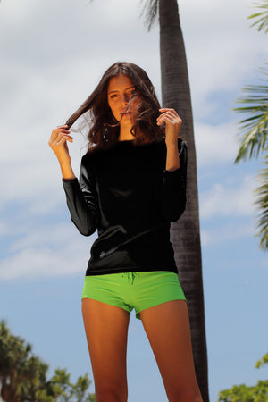 Rash Guard Black - 7026LS