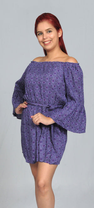 Purple-Pinkl Romper | WA31226RC