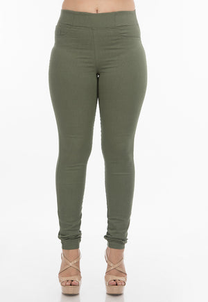 Oil Green Jeggings | H-304