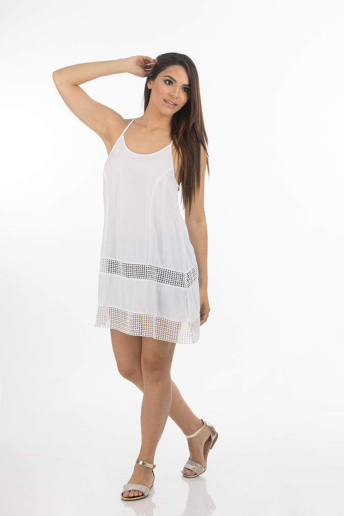 Hawaiian Short Dress | 333 (White)