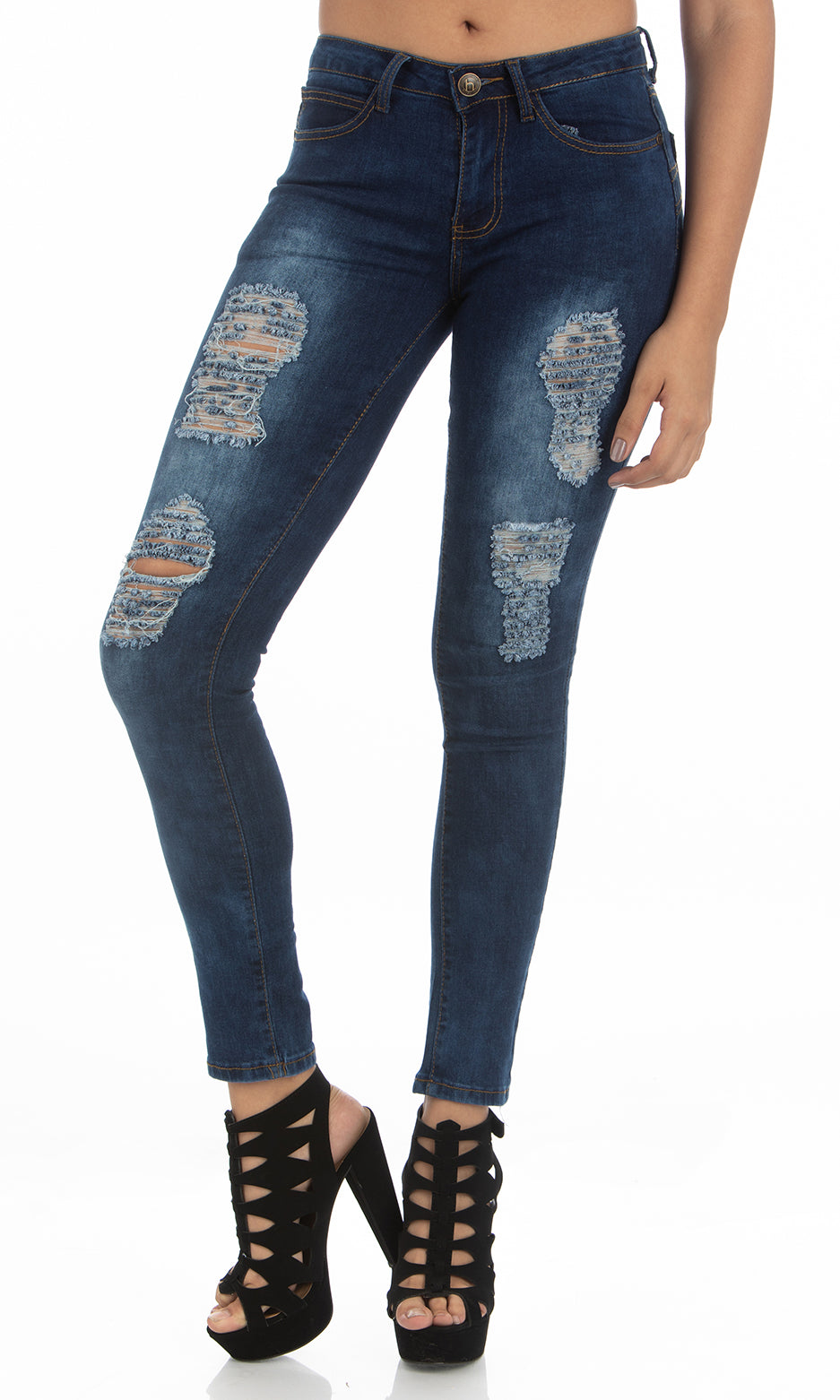 Mid Rise Jeans | H-2650