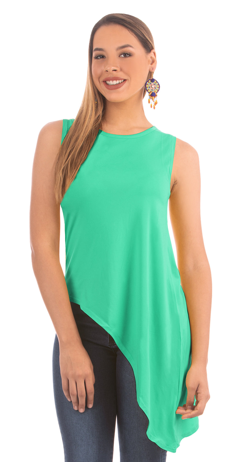 Ice Green Slanted Top | NR-312