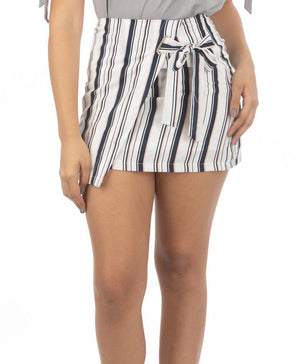 Side Bow Mini Skirt | 6583