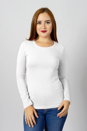 White Long Sleeve Tee | 900LS