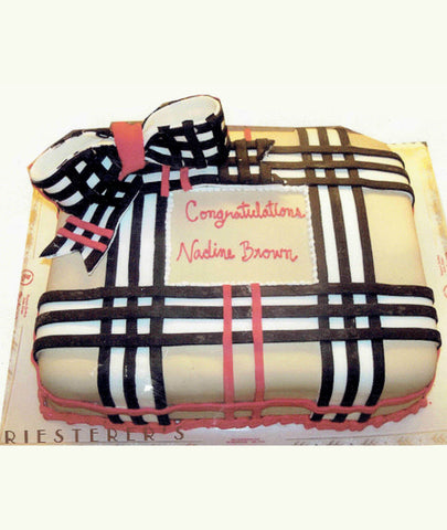 Burberry Plaid Cake