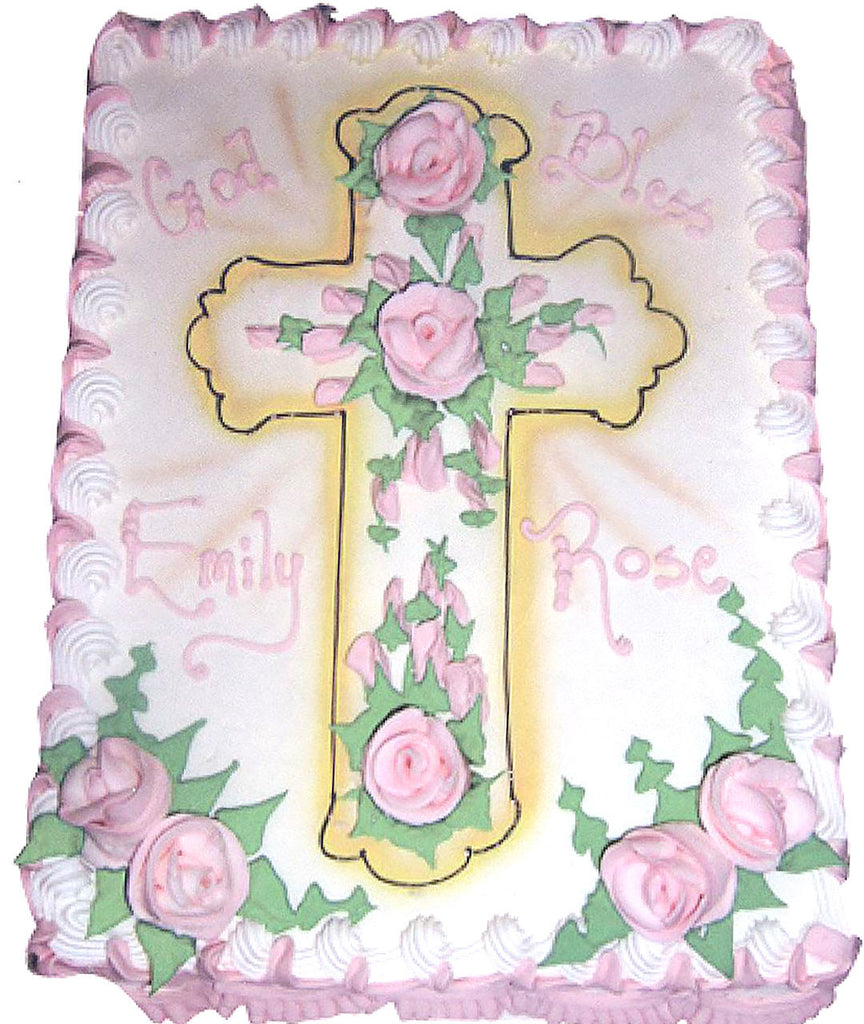 Rose Cross Décor